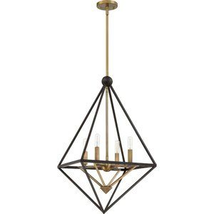 Louvre 22 inch 4 Light Chandelier By Quoizel